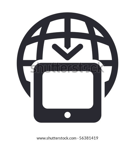 Vector illustration of modern single icon