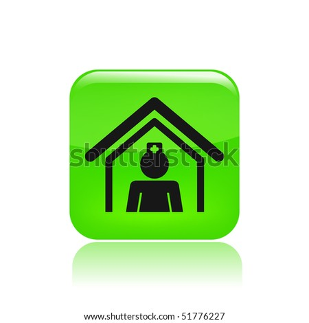 Vector illustration of modern single icon depicting a home care nurse or in hospital