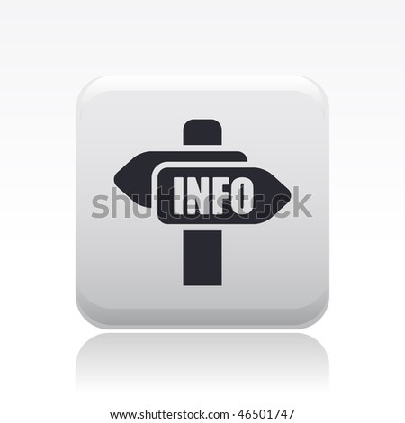 "Vector illustration of modern single icon depicting a ""info"" cartel"
