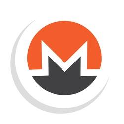 vector illustration of monero xmr crypto currency logo icon.  minimalist flat vector eps 10