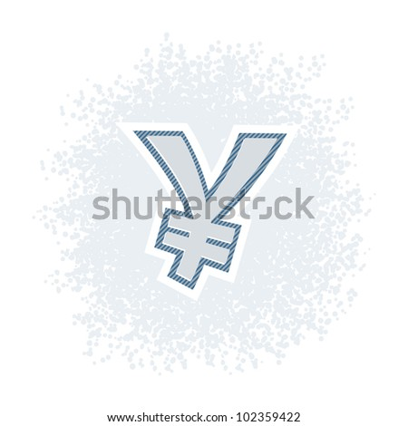 Vector illustration of money yen icon in retro style