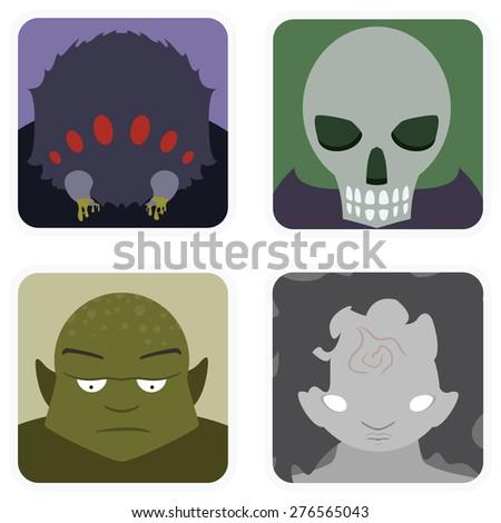 vector illustration of monster