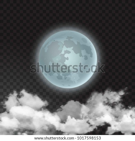 vector illustration of moon