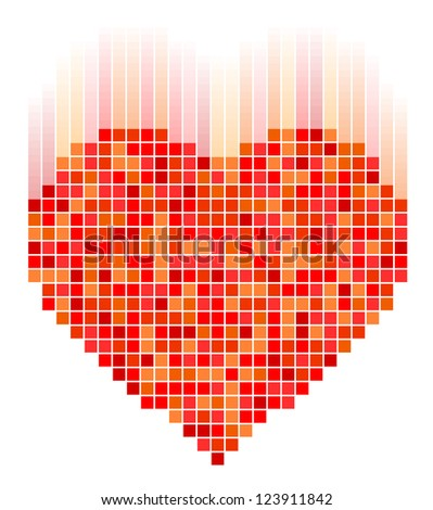 Vector illustration of mosaic heart for Valentine's Day