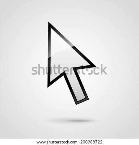 Vector illustration of mouse pointer background concept
