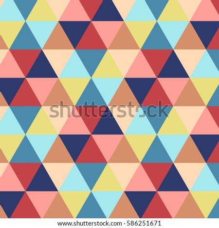 Vector illustration of multicolor triangle pattern