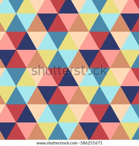 Vector illustration of multicolor triangle pattern
