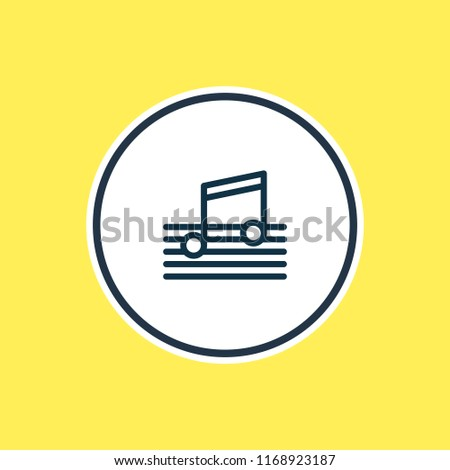 Vector illustration of music icon line. Beautiful party element also can be used as quaver icon element.