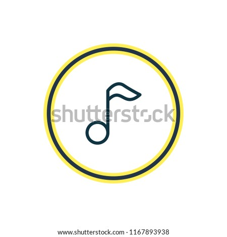 Vector illustration of music note icon line. Beautiful lifestyle element also can be used as quaver icon element.