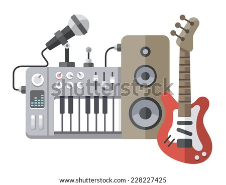 vector illustration of music