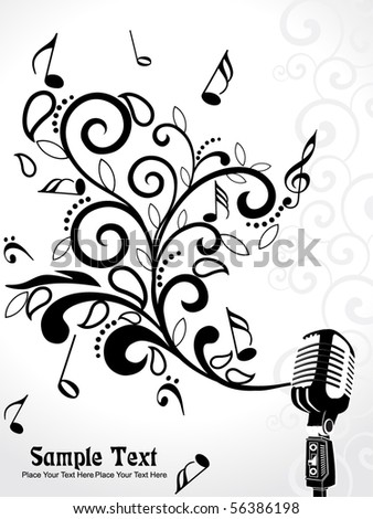 vector illustration of musical background