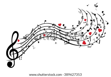 vector illustration of musical
