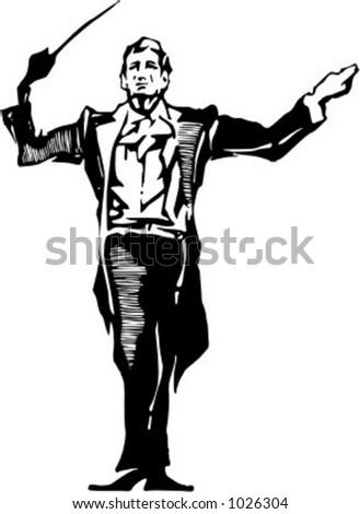 Vector illustration of musician.