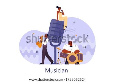vector illustration of musician