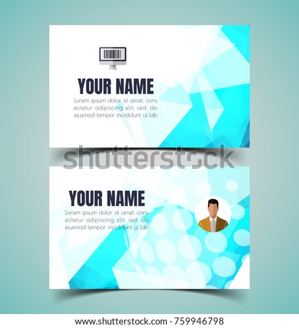 vector illustration of name card template. #759946798