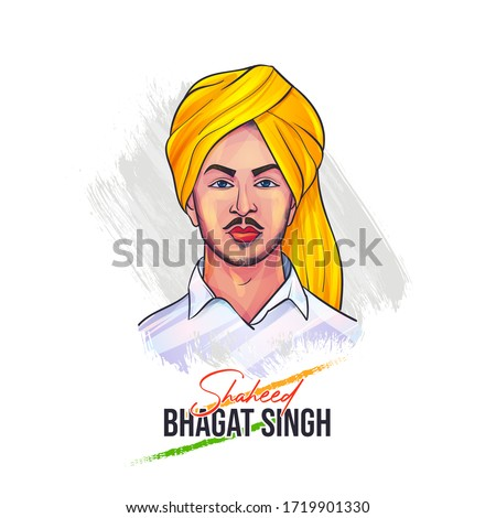 Vector illustration of Nation Hero and Freedom Fighter Bhagat Singh