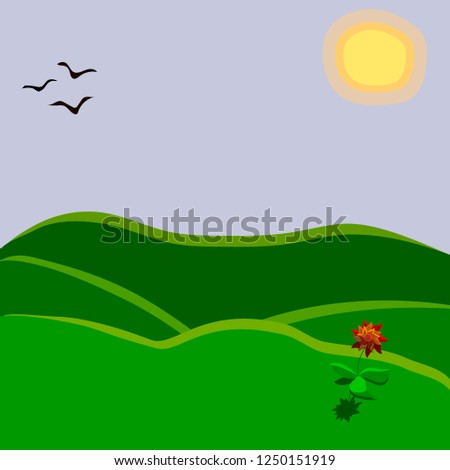 vector illustration of nature