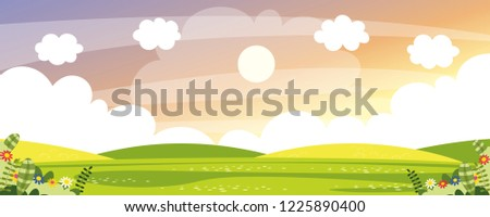 Vector Illustration Of Nature Scene