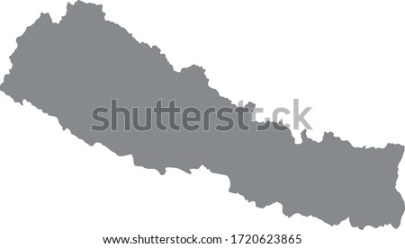 vector illustration of Nepal map Photo stock ©