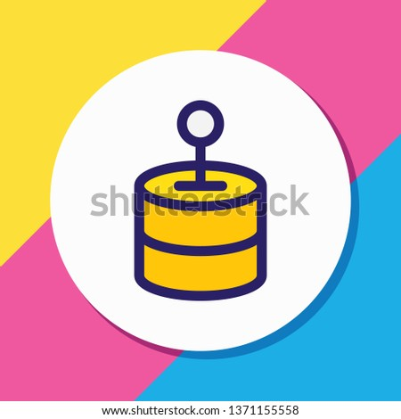 Vector illustration of network solution icon colored line. Beautiful internet element also can be used as database icon element.