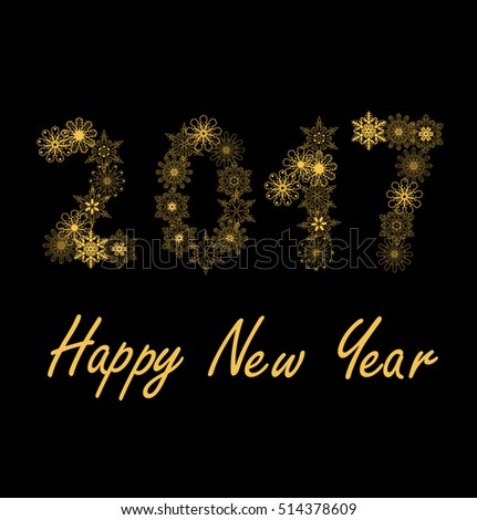 vector illustration of 2017 new year background #514378609