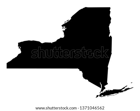 vector illustration of New York map