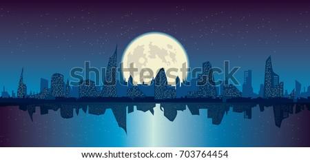 vector illustration of night