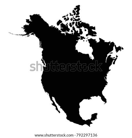 vector illustration of North America map