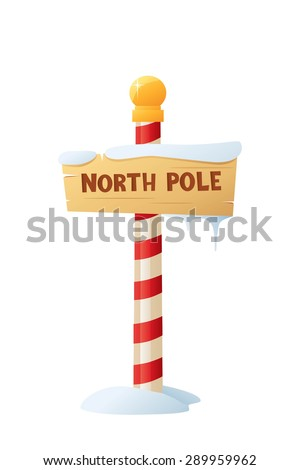 Vector illustration of North Pole Sign.