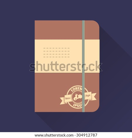 vector illustration of note