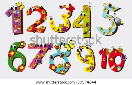 vector illustration of number