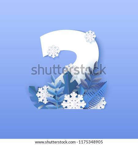 vector illustration of number