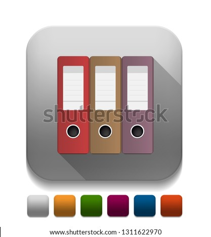 Vector illustration of office binders - office documents sign