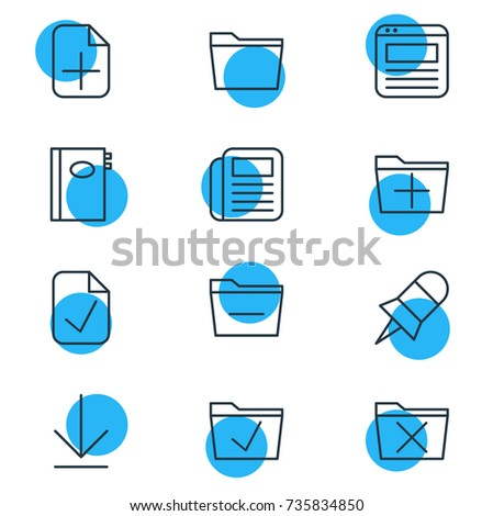 Airstock is - Vector Illustration Of 12 Office Icons