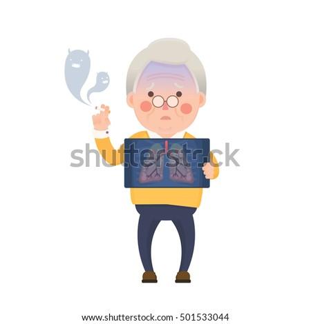 vector illustration of old man