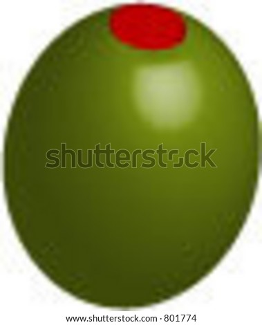 Vector illustration of olive with pimento
