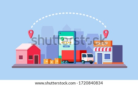 Vector illustration of online delivery service concept