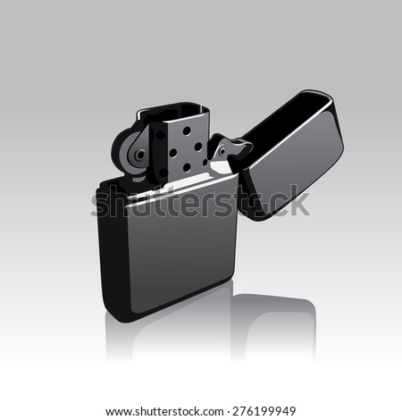 vector illustration of opened