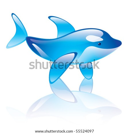Vector illustration of orca whale symbol
