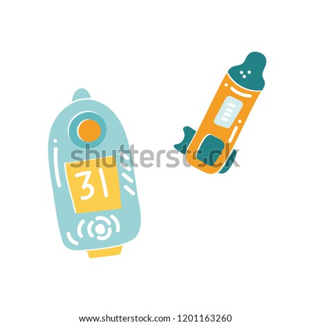 Vector illustration of orienteering sport ident card. Orientation, navigation isolated object.