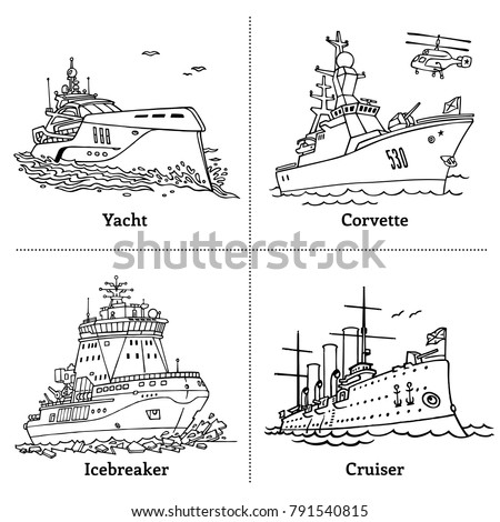 vector illustration of outline...