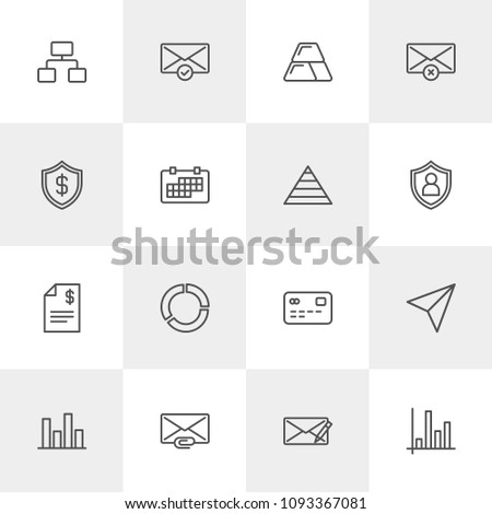 Airstock is - Vector illustration of outline icons for