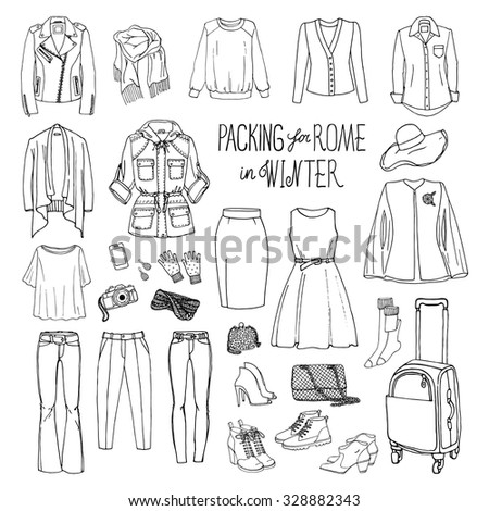 vector illustration of packing
