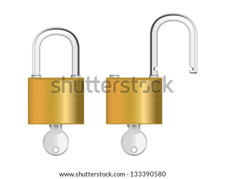 Vector illustration of padlock. File is in eps10 format.