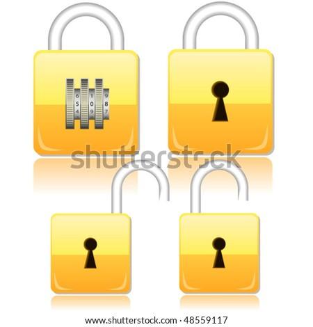 Vector illustration of padlocks