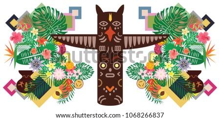 vector illustration of pagan