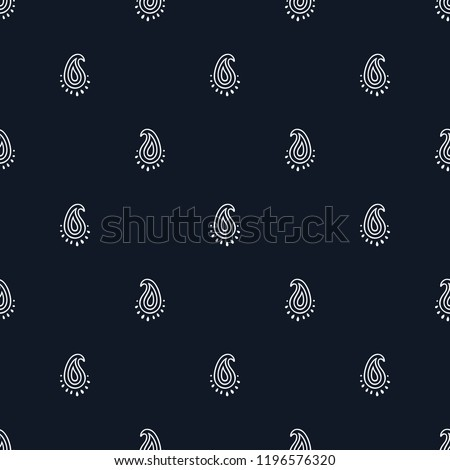 Vector illustration of paisley seamless pattern. Tribal texture. Can be used for textile design, surface, print, card, fabric, and wallpaper. Bohemian style.