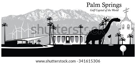 vector illustration of palm