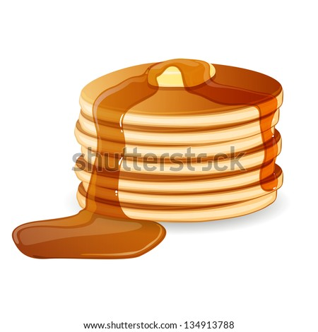 vector illustration of pancakes