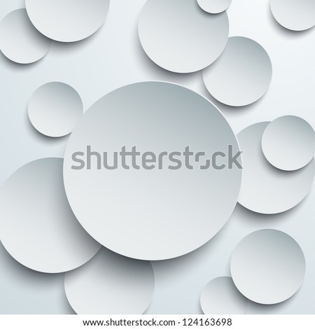 Vector illustration of paper round notes. Eps10.